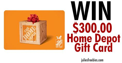 Homedepot Com Gift Card - win a 300 home depot gift card julie s freebies