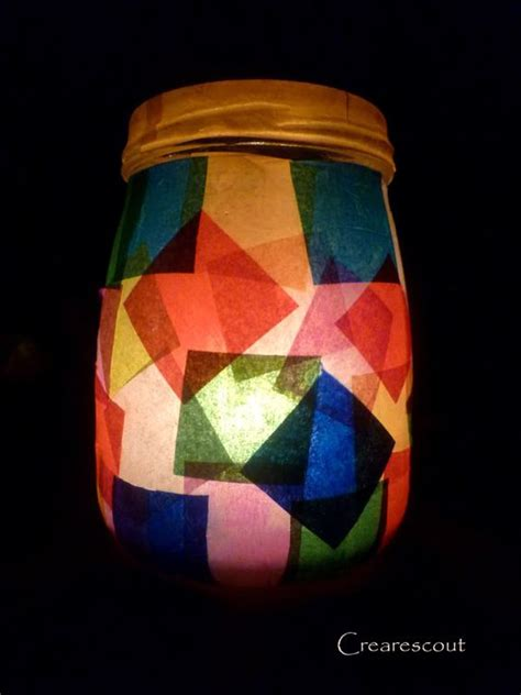 Tissue Paper Lantern Craft - lanterns tea lights and tissue paper lanterns on