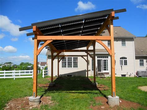 Hugh Lofting Timber Framing Solar Pergola Solar Panel Pergola