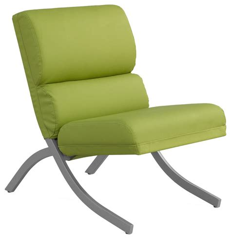Lime Green Accent Chair Rialto Lime Green Bonded Leather Chair Contemporary Armchairs And Accent Chairs By
