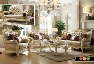 traditional formal livingroom set pearl bonded leather stanley collection fabric living room set sofas