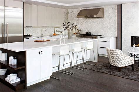 modern white kitchen backsplash 2018 zigzag patterns in kitchen chevron and herringbone
