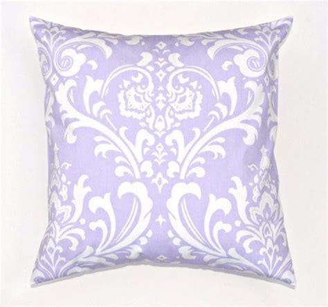 Lavender Decorative Pillows by Lavender Damask Throw Pillows Purple Baby Bedding