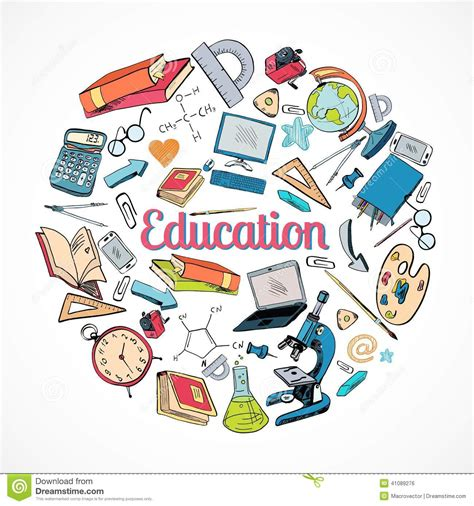 education doodle vector free education icon doodle stock vector image 41089276