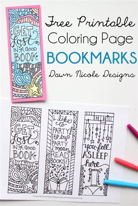 free printable coloring page bookmarks dawn nicole free printable coloring page bookmarks lesson plans