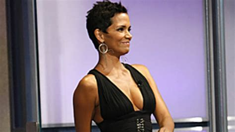 Halle Berry Gets On Knees For A by Halle Berry Rocks The The Knee Boots Trend On