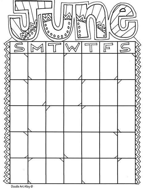 printable art calendar 17 best images about month coloring on pinterest colors