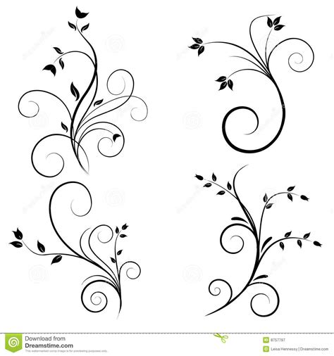 swirl flourishes stock vector image of drawing creative