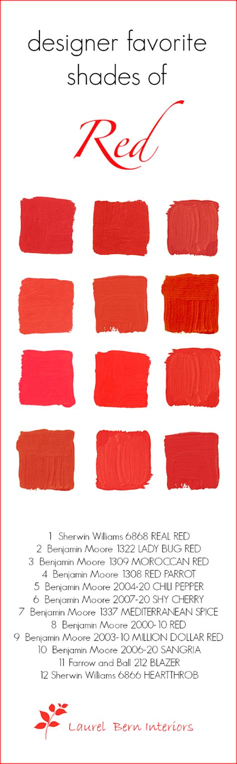 love this shade of red my favorite paint color is la designers 12 favorite shades of red paint and a gift