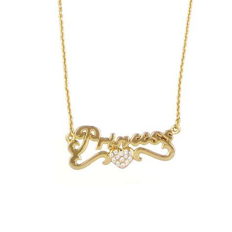 disney couture princess necklace gold disney couture