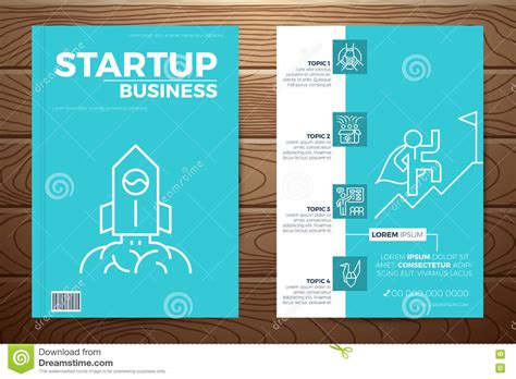 book layout business startup business book cover stock vector image 71744051