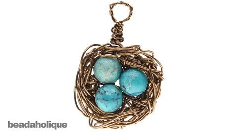 how to make a wire how to make a wire bird s nest pendant