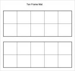 10 frame template printable common worksheets 187 printable ten frames preschool and