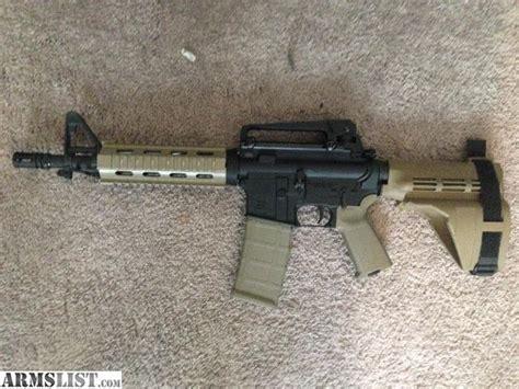 ar15 pistol fde with sig sauer sb15 pistol brace and noveske kx3 pig armslist for sale palmetto ar15 fde pistol 10 5 quot barrel