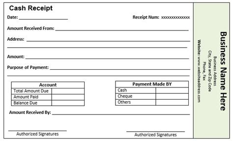 9 Free Sle Loan Installment Receipt Templates Printable Sles Loan Payment Receipt Template
