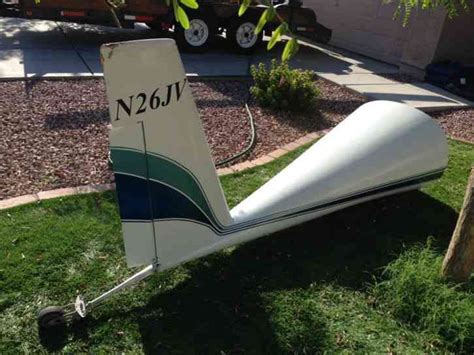 tail section of an airplane quickie 2 aircraft tail section has been removed so it