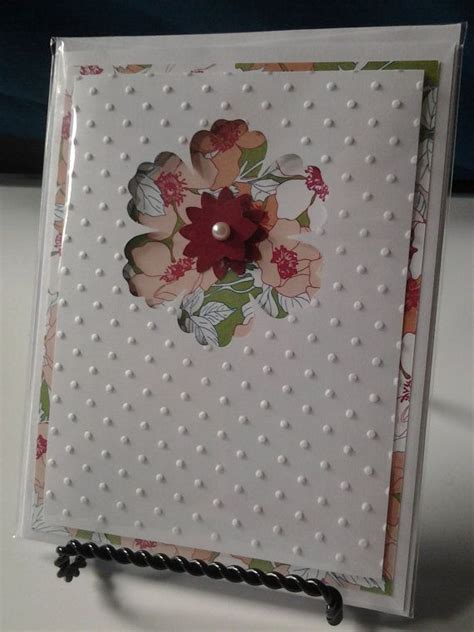 Handmade Sheet Greeting Cards - ready to st blank embossed greeting card handmade