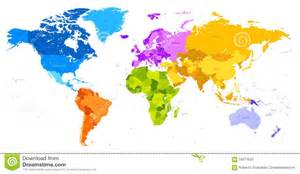 Color World Map by Blank Color World Map Countries Images Stock Pictures