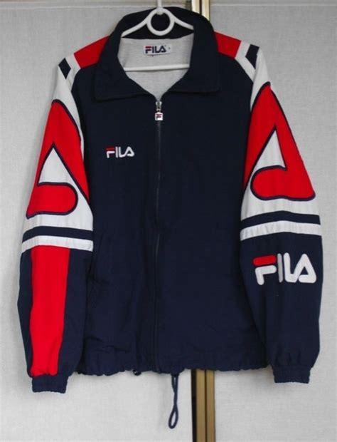1176 Dress Promo Pin 2b2c8dc7 vintage 90s fila shell track jacket m l fila 90 s