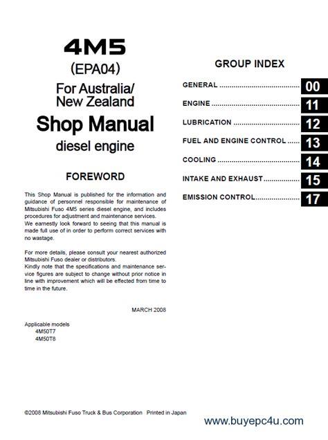 mitsubishi fuso repair manual mitsubishi fuso canter truck workshop repair manual pdf