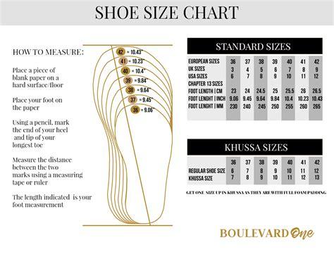 shoe size chart dubai buy encircled slides shoes of illume online at best price