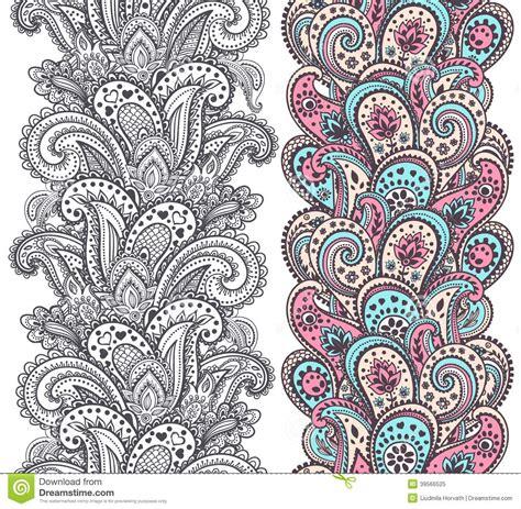 beautiful indian paisley ornaments stock vector image