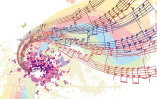 colorful notes free vectors colorful musical notes free vector