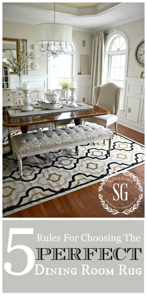 Dining Room Rug Tips 5 For Choosing The Dining Room Rug Room