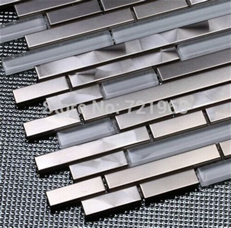 stainless steel kitchen backsplash tiles buy white glass mosaic kitchen wall tile