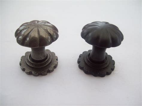 cast iron cupboard cabinet drawer kitchen door knobs fluted decorative pumpkin ebay Closet Door Knobs Decorative