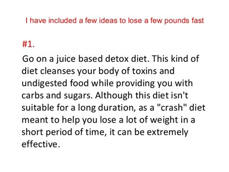 Juice Based Detox Diet Lose 20 Pounds how to lose 20 pounds in 2 weeks