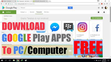 Play Store Without Sign In Cara Aplikasi Android Play Store Via Komputer