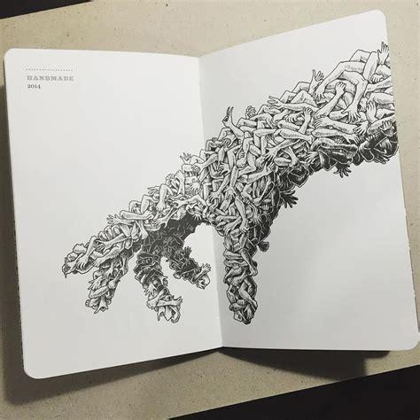 figuras geometricas de animales intrincados dibujos de animales que se funden con figuras
