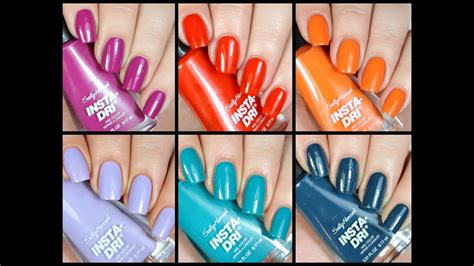 New Sally new sally hansen insta dri polishes live swatch review