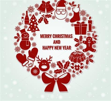 merry christmas  happy  year illustrations  creative market