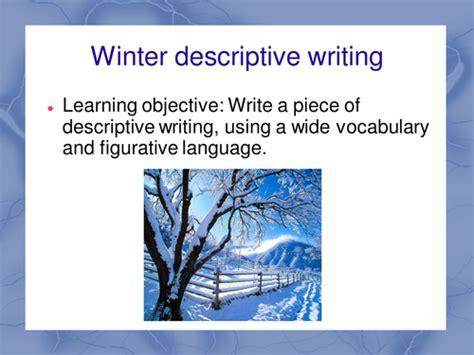 Descriptive Essay Winter by Winter Words Descriptive Writing By Maz1 Teaching Resources Tes