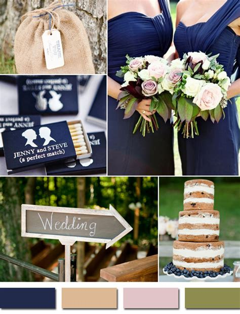 navy blue wedding color schemes fabulous 10 wedding color scheme ideas for fall 2014 trends