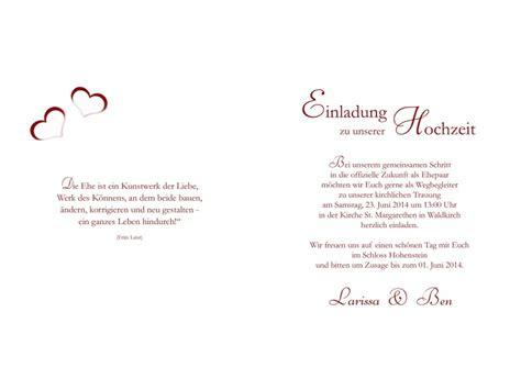 Hochzeit Einladungskarten Text by Hochzeitskarte Hochzeitseinladung Einladung Hochzeit