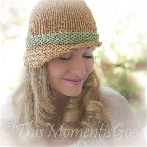 pattern for vintage hats loom knit folded brim cloche hat pattern vintage style