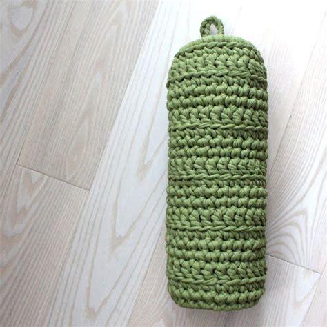 pattern crochet bag holder crochet plastic bag holder knit crochet pinterest
