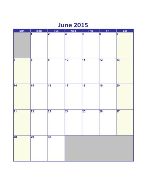 daily planner template june 2015 june 2015 calendar sle template free download