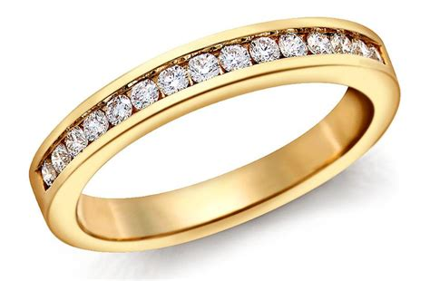 blue nile wedding ring channel set yellow gold onewed