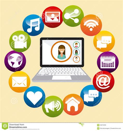 design graphics for social media social media stock vector image 59075290