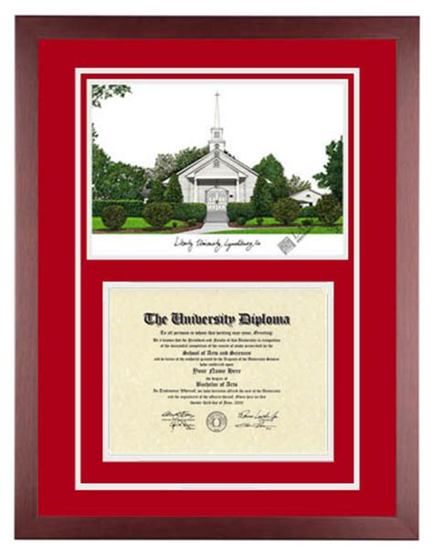 Liberty Mba Diploma Frame by 187 Liberty Flames
