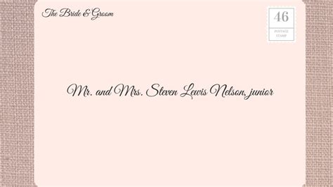 mr and mrs wedding invitation address how to address wedding invitations southern living