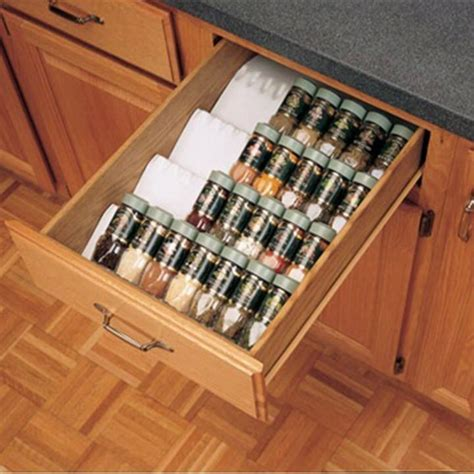 kitchen cabinet spice organizers kitchen drawer organizer spice tray insert rev a shelf st50 series rockler woodworking and