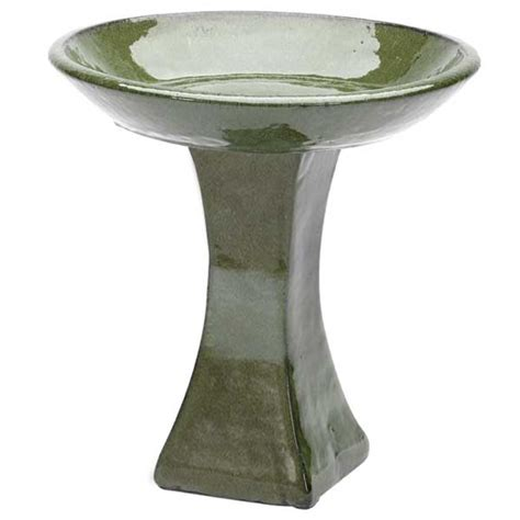 customer reviews for glazed bird bath with stand