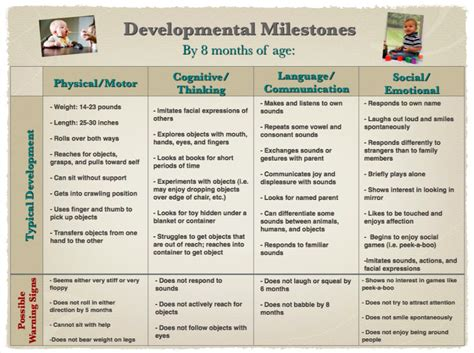 Developmental Milestones Chart 0 3 Developmental Developmental Milestones Table
