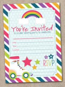 fill in roller skating invitations printable birthday painting invitation