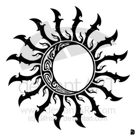 tribal sun tattoos amp moon tattoo secret of tattoo